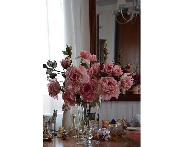 цветы в интерьере, цветы из шелка, букет шелковых роз, букет роз для интерьера, цветы из ткани, цветы авторской работы, цветы ручной работы
