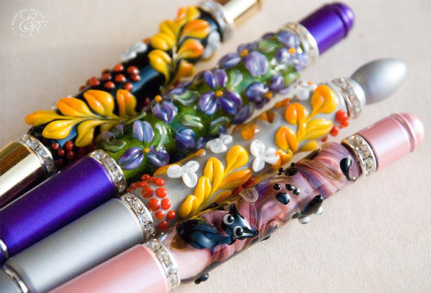 lampwork, галерея, ручки, подарки к новому году, подарок, украшения, стеклянные украшения