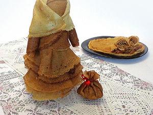 Масленичная баба из блинов. Ярмарка Мастеров - ручная работа, handmade.
