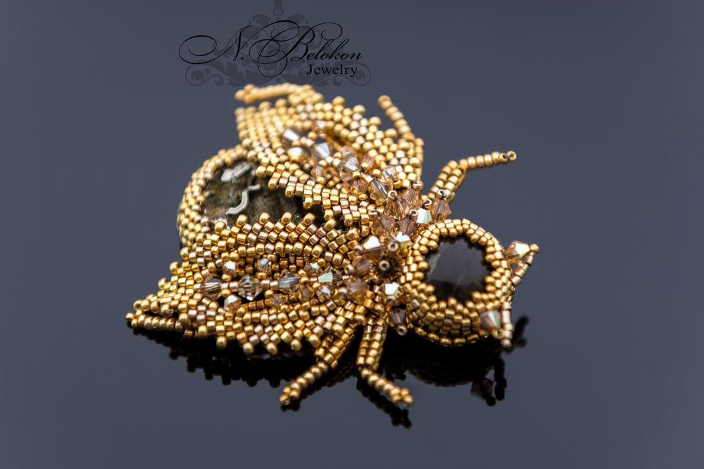 золотой жук, украшение ручной работы