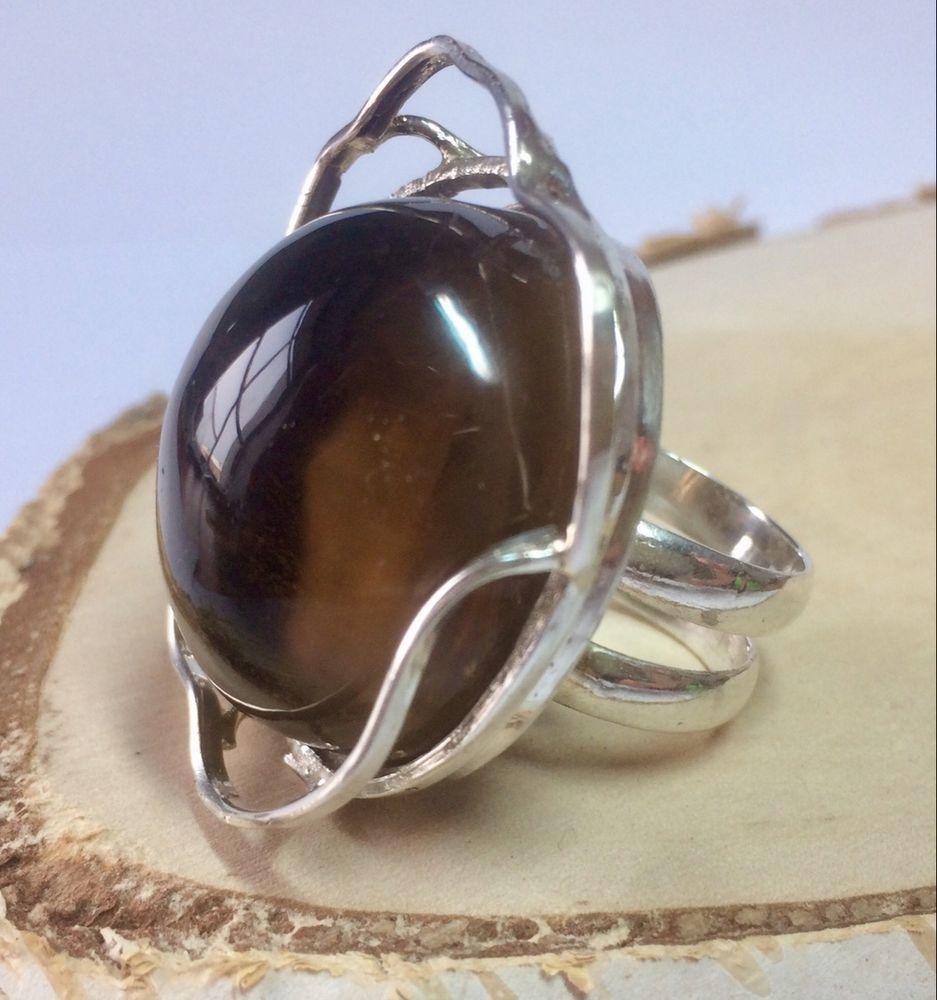 дымчатый кварц, бусы из камней, серебряные украшения