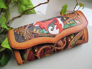Шьем кожаный кошелек с лисичкой. Ярмарка Мастеров - ручная работа, handmade.