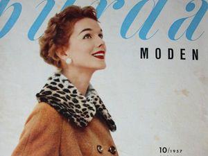 Burda moden 10/1957 Бурда Моден. Ярмарка Мастеров - ручная работа, handmade.