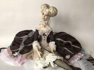 Микаэла - новая будуарная кукла ростом почти метр!. Ярмарка Мастеров - ручная работа, handmade.