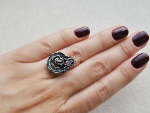 Видео кольца с аметистами и сапфирами. Серебро 925 пробы. Ярмарка Мастеров - ручная работа, handmade.