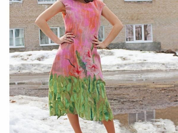 Новое валяное платье | Ярмарка Мастеров - ручная работа, handmade