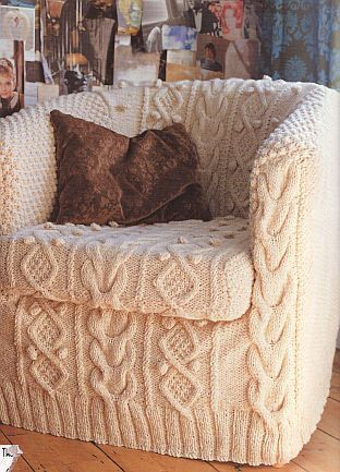 Cozy sweater chair!