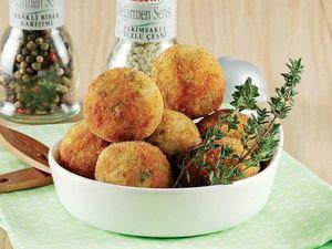 Рецепт. Обжаренные шарики с рисом и сыром с начинкой из грибов и овощей. Ярмарка Мастеров - ручная работа, handmade.