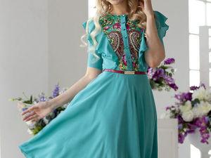 Аукцион на платьице из креп-шифона!!!Старт 1000 рублей !!!. Ярмарка Мастеров - ручная работа, handmade.