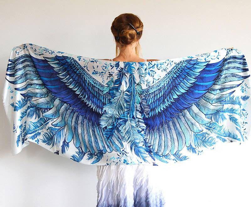 Когда вырастают крылья: завораживающие палантины Розы Хамитовой, фото № 5
