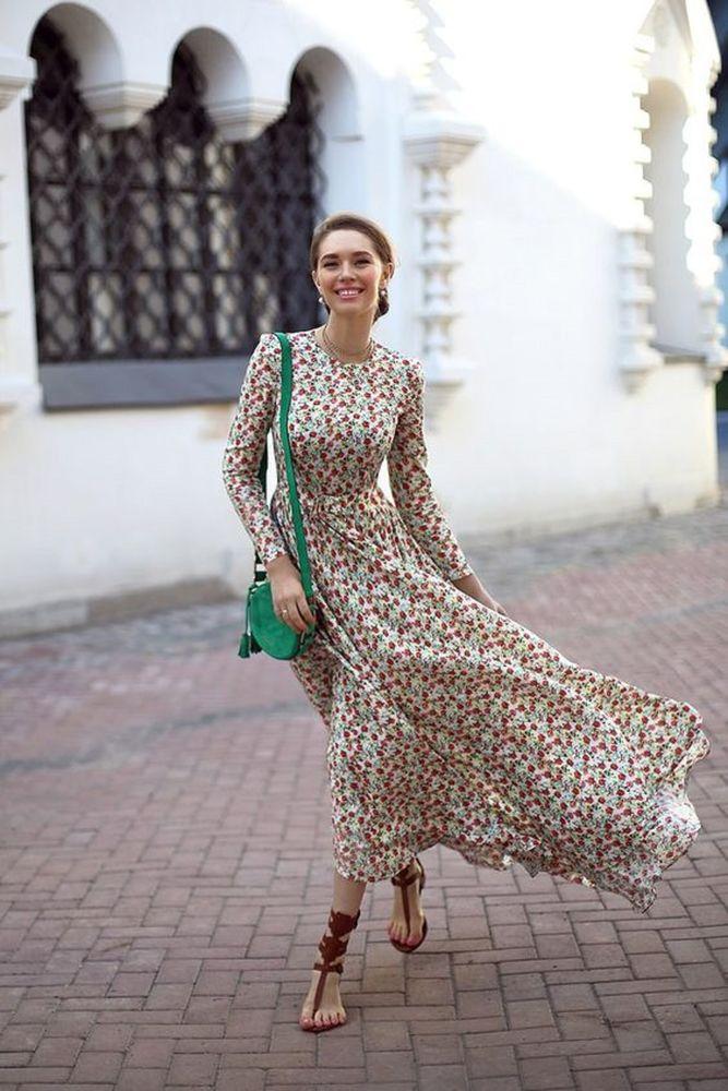 Длинные юбки лето весна