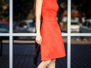 Идеальное летнее платье ярко-красного цвета | Ярмарка Мастеров - ручная работа, handmade