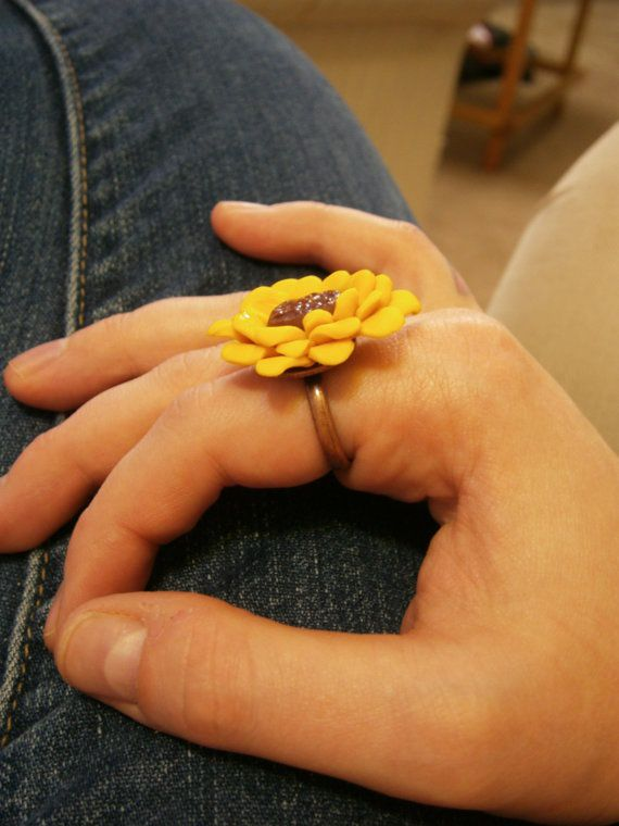 Sunflower Ring by DanielleSeevers on Etsy, $3.00