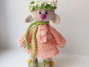 Гномичка Персик во всей красе. Ярмарка Мастеров - ручная работа, handmade.