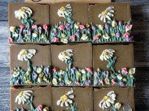 Летний луг натуральное мыло с нуля хит продаж 2017 года. Ярмарка Мастеров - ручная работа, handmade.