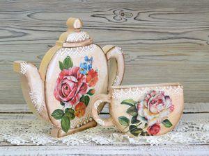 Легко и просто декорируем деревянный чайник: видео мастер-класс. Ярмарка Мастеров - ручная работа, handmade.