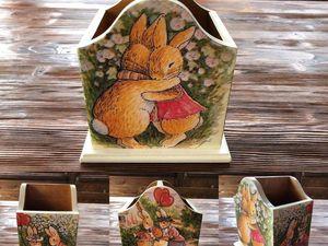 "Карандашница для Татьяны ""Foxwood tales"". Ярмарка Мастеров - ручная работа, handmade."