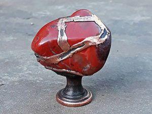 Красная яшма, оникс, агат. Новинки мебельных ручек с камнями!. Ярмарка Мастеров - ручная работа, handmade.
