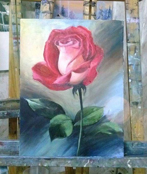 живопись маслом, учусь рисовать, обучение рисованию, картина в подарок