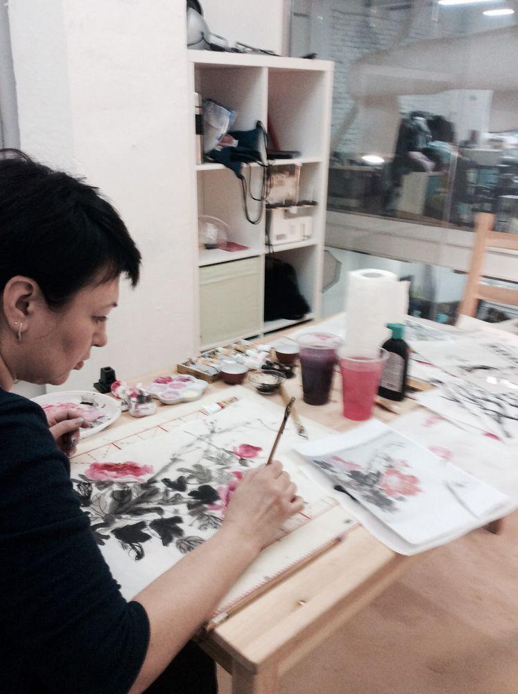живопись, гохуа, рисование