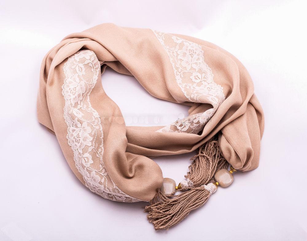 распродажа шарфов, кремовый шарф, laalmare