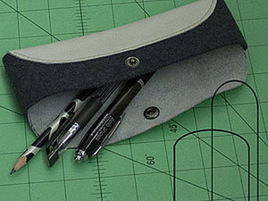 Making a Simple Pencil Case for Pens and Handmade Tools. Livemaster - handmade