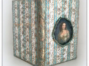 Декорируем обложку блокнота «Мечты Виктории» с помощью папье-маше. Ярмарка Мастеров - ручная работа, handmade.