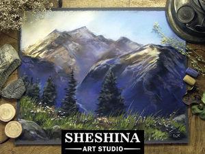 Рисуем восход в горах сухой пастелью. Ярмарка Мастеров - ручная работа, handmade.
