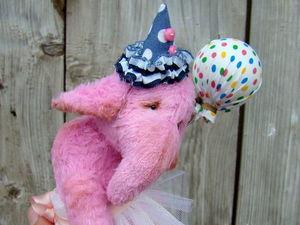 Розовая Слоняшка за 3900 р +доставка по РФ в подарок!. Ярмарка Мастеров - ручная работа, handmade.