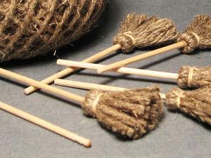 Мастерим метёлку для куклы | Ярмарка Мастеров - ручная работа, handmade