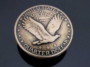 Кончо. Кончо монета 25 центов США. Крепление винт. Ярмарка Мастеров - ручная работа, handmade.