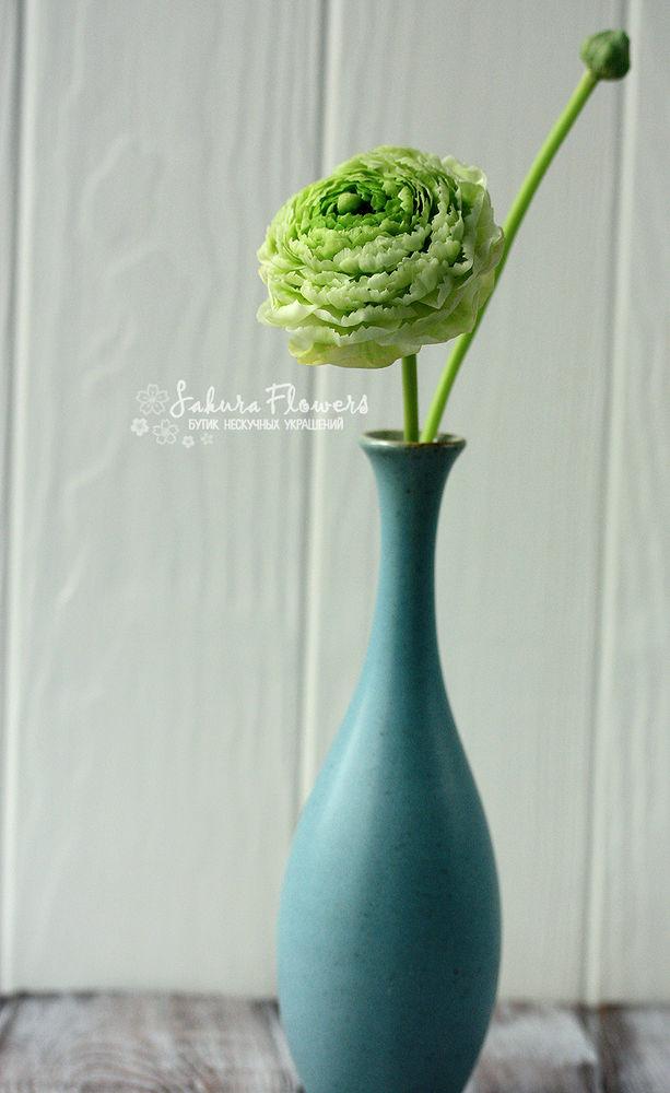 полимерная глина, цветы из глины, ранункулюс
