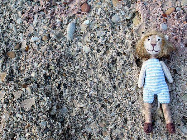 Львенок Бонифаций, игрушка путешественник, игрушка талисман!) | Ярмарка Мастеров - ручная работа, handmade