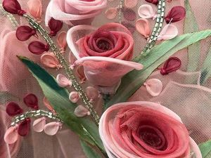 Цветы из ткани в работах дизайнеров и мастеров вышивки. Ярмарка Мастеров - ручная работа, handmade.