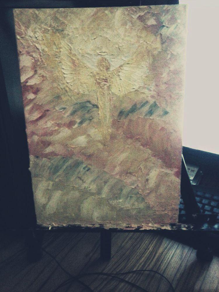 ангел, свет, картина маслом