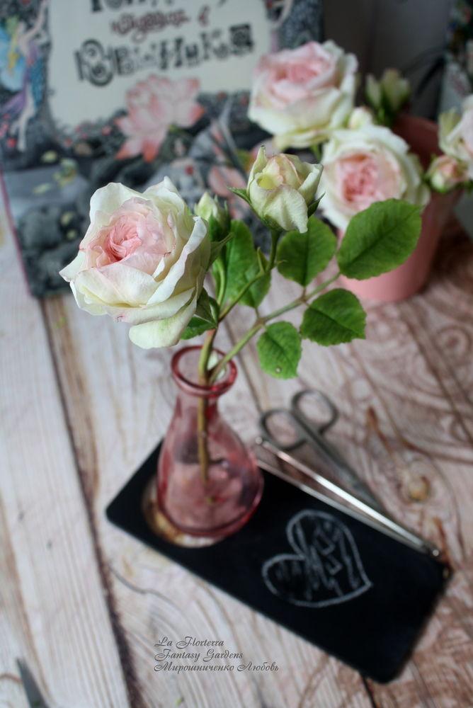 мастер-класс по лепке, роза из полимерной глины
