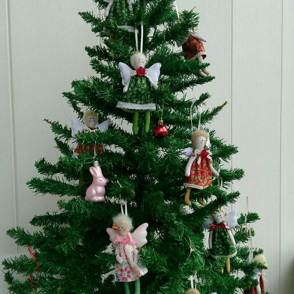 новогодние сувениры, текстильная кукла