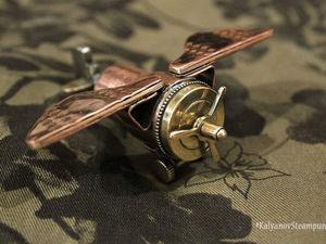 Видео мастер-класс: «Стимпанк-самолет» из медной трубки и деталей от будильников. Ярмарка Мастеров - ручная работа, handmade.