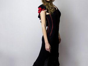 Обзор новинки!!! Вечернее вязаное платье