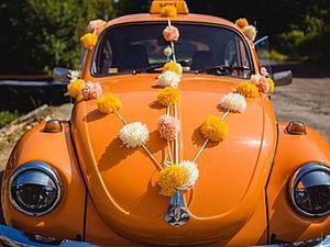 How to Make Pom-Poms to Decorate a Wedding Car. Livemaster - handmade