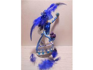 Творим зимнюю сказку. Декоративная статуэтка «Красавица Царица-зима». Ярмарка Мастеров - ручная работа, handmade.