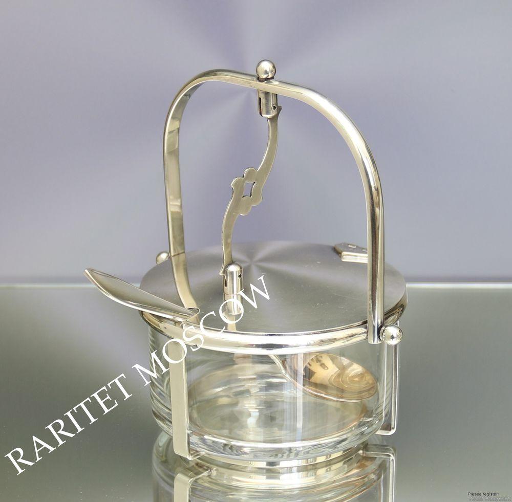 Сахарница конфетница ложка серебрение клеймо 23, фото № 1