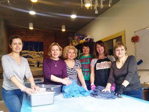 Отчет о мастер-классе Пластичное нуно-войлочное платье с фактурными декоративными элементами, который состоялся 13-14 апреля в Киеве. Ярмарка Мастеров - ручная работа, handmade.