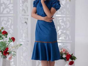 Аукцион на джинсовое платьице! Старт 2000 р. !. Ярмарка Мастеров - ручная работа, handmade.