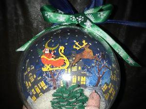Мастерим елочный шар «Новогодний». Ярмарка Мастеров - ручная работа, handmade.
