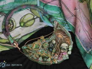 Батик под колье на заказ! | Ярмарка Мастеров - ручная работа, handmade