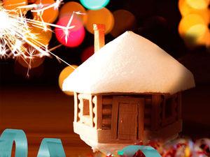 Создаем маленький новогодний домик. Ярмарка Мастеров - ручная работа, handmade.