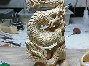 «Рождение Дракона»: резьба по кости без эскиза и лепки модели. Ярмарка Мастеров - ручная работа, handmade.