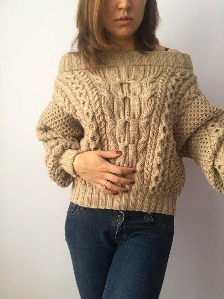 вязаный свитер, рубан, теплый свитер, шерстяной свитер