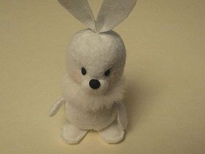 Шьём маленького зимнего зайца. Ярмарка Мастеров - ручная работа, handmade.